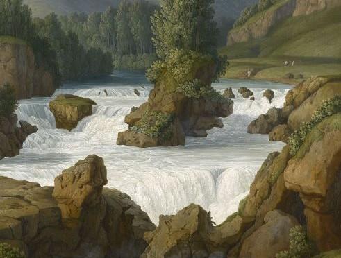 J.P.Hackert le cascate di Anitrella, 1793, 77,7x63, Collezione Reale Inglese