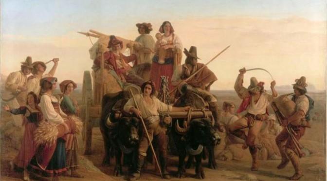 L.L.Robert I mietitori nelle Paludi Pontine, 1828, 1,42x2 ,12 m., Louvre