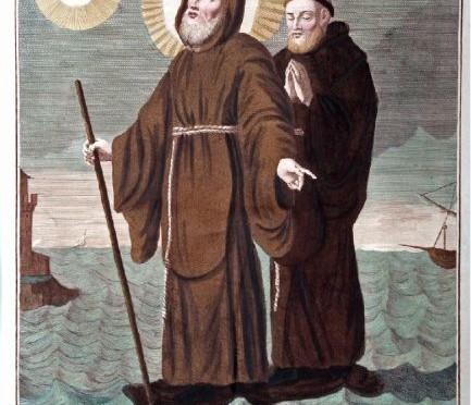 antica stampa san francesco